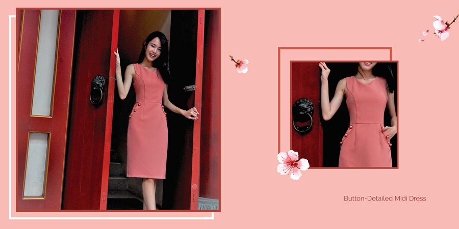 red cny dress moonflower collections