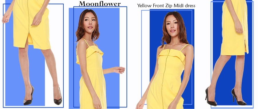 6 ways to wear Moonflowers' Yellow Front Zip Midi Dress